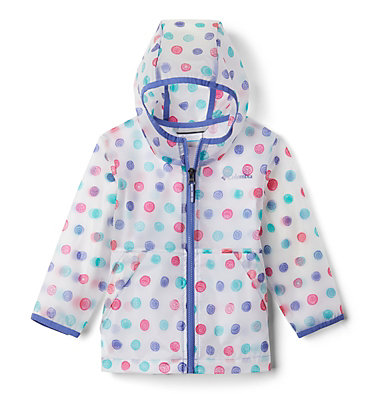 Toddler Translucent Trail™ Rain Slicker Translucent Trail™ Rain Slicker | 100 | 2T, African Violet Polka Pets, front