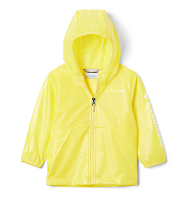 Toddler Translucent Trail™ Rain Slicker Translucent Trail™ Rain Slicker | 100 | 2T, Buttercup, front