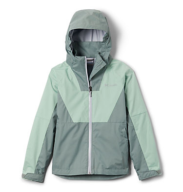 Girls' Rain Scape™ Jacket Rain Scape™ Jacket | 467 | L, New Mint, Light Lichen, front