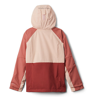 Girls' Rain Scape™ Jacket Rain Scape™ Jacket | 467 | L, Dusty Crimson, Dark Coral, back