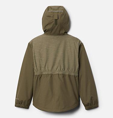 Girls' Rainy Trails™ Fleece Lined Jacket Rainy Trails™ Fleece Lined Jacket   466   L, Stone Green, Stone Green Slub, back
