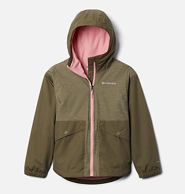 Girls' Rainy Trails™ Fleece Lined Jacket Rainy Trails™ Fleece Lined Jacket   466   L, Stone Green, Stone Green Slub, front