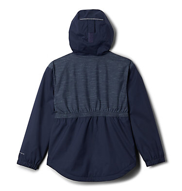 Girls' Rainy Trails™ Fleece Lined Jacket Rainy Trails™ Fleece Lined Jacket   466   L, Nocturnal, back