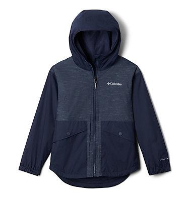 Girls' Rainy Trails™ Fleece Lined Jacket Rainy Trails™ Fleece Lined Jacket   466   L, Nocturnal, front