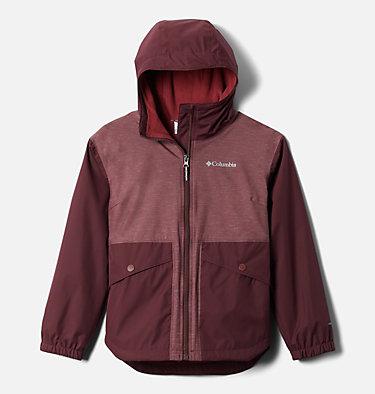 Girls' Rainy Trails™ Fleece Lined Jacket Rainy Trails™ Fleece Lined Jacket   466   L, Malbec, Malbec Slub, front