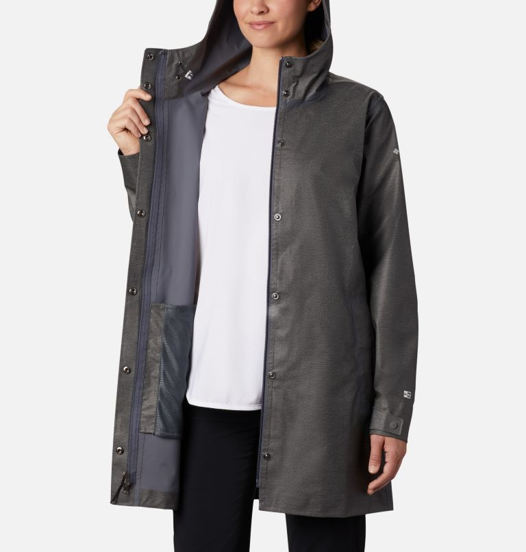 OutDry Ex™ Mackintosh Jacket | 030 | L Women's OutDry Ex™ Mackintosh Jacket, Charcoal Heather, a3