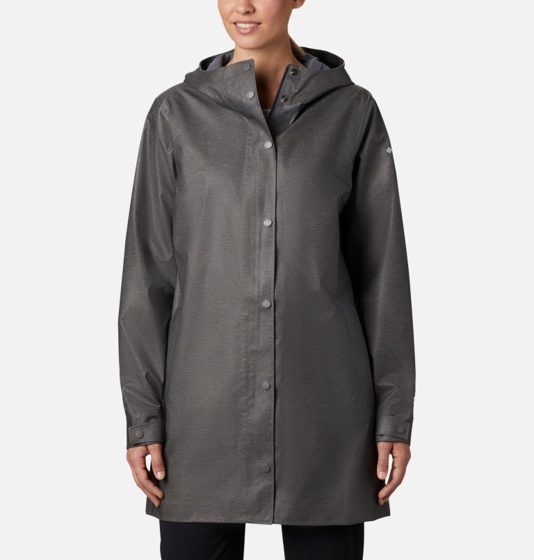 OutDry Ex™ Mackintosh Jacket | 030 | L Women's OutDry Ex™ Mackintosh Jacket, Charcoal Heather, front