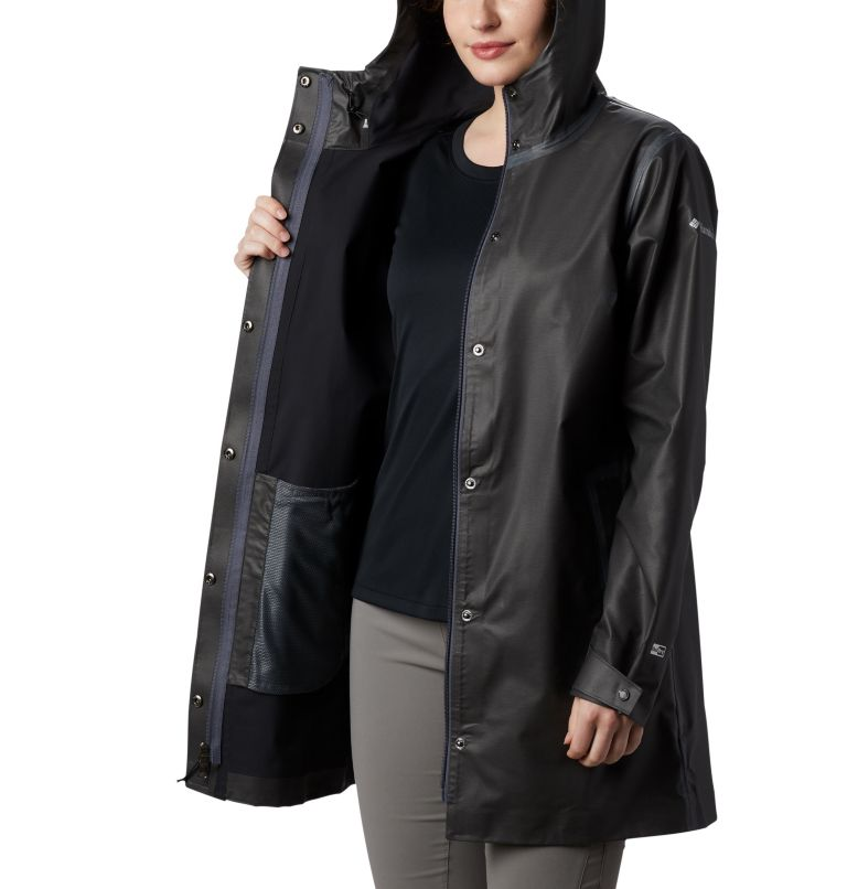 OutDry Ex™ Mackintosh Jacket | 010 | XS Chaqueta OutDry Ex™ Mackintosh para mujer, Black Heather, a2