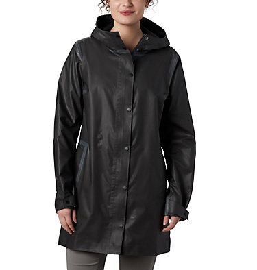 Women's OutDry Ex™ Mackintosh Jacket OutDry Ex™ Mackintosh Jacket | 010 | L, Black Heather, front