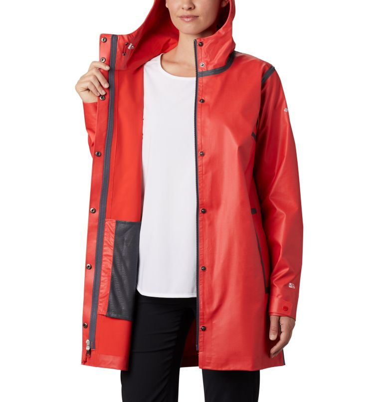 OutDry Ex™ Mackintosh Jacket | 843 | XS Giacca Mackintosh  OutDry Ex™ da donna , Bold Orange Heather, a3