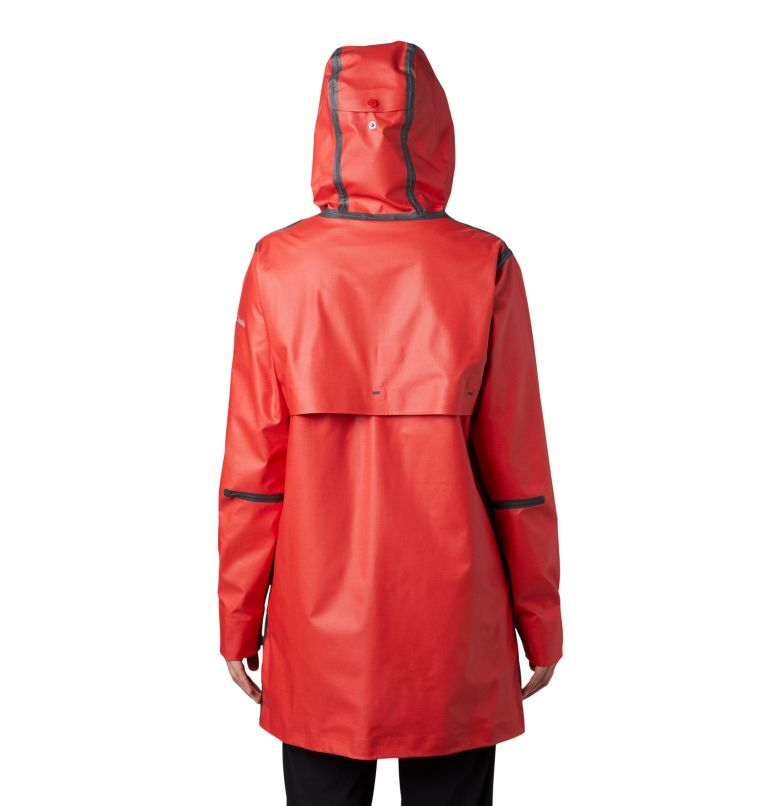 OutDry Ex™ Mackintosh Jacket | 843 | XS Giacca Mackintosh  OutDry Ex™ da donna , Bold Orange Heather, back