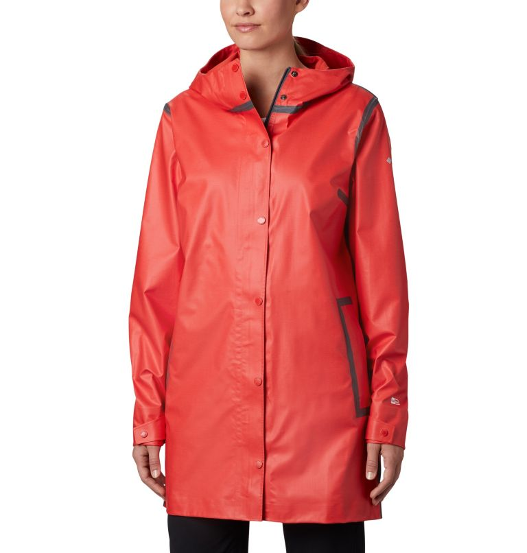 OutDry Ex™ Mackintosh Jacket | 843 | XS Giacca Mackintosh  OutDry Ex™ da donna , Bold Orange Heather, front