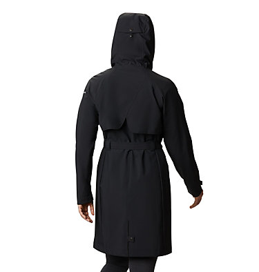 Women's Here And There™ Long Trench Jacket Here And There™ Long Trench Jacket | 010 | L, Black, back