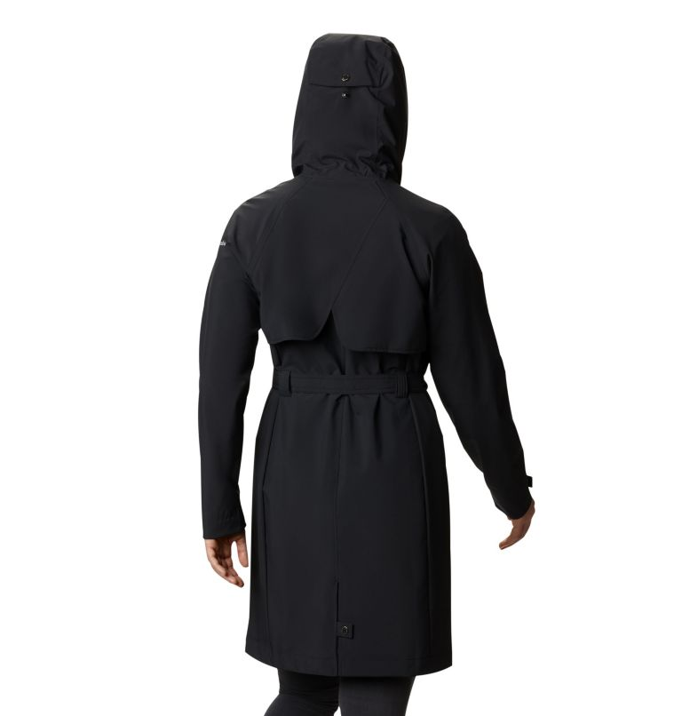Women's Here And There™ Long Trench Jacket Women's Here And There™ Long Trench Jacket, back
