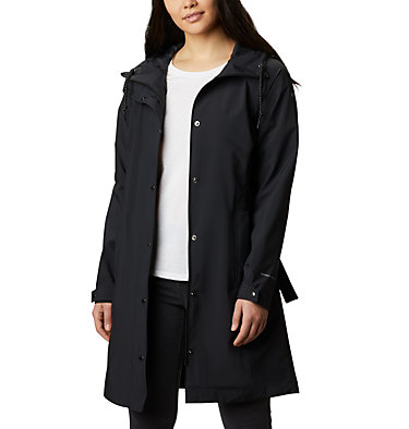 Women's Here And There™ Long Trench Jacket Here And There™ Long Trench Jacket | 010 | L, Black, front
