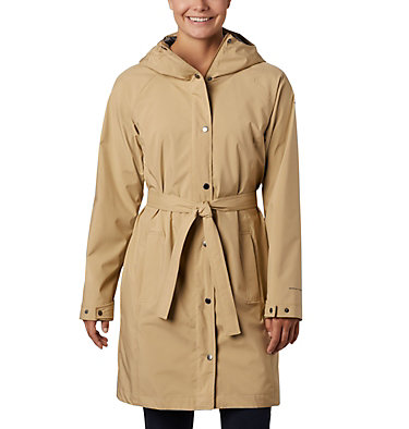 Women's Here And There™ Long Trench Jacket Here And There™ Long Trench Jacket | 010 | L, Beach, front