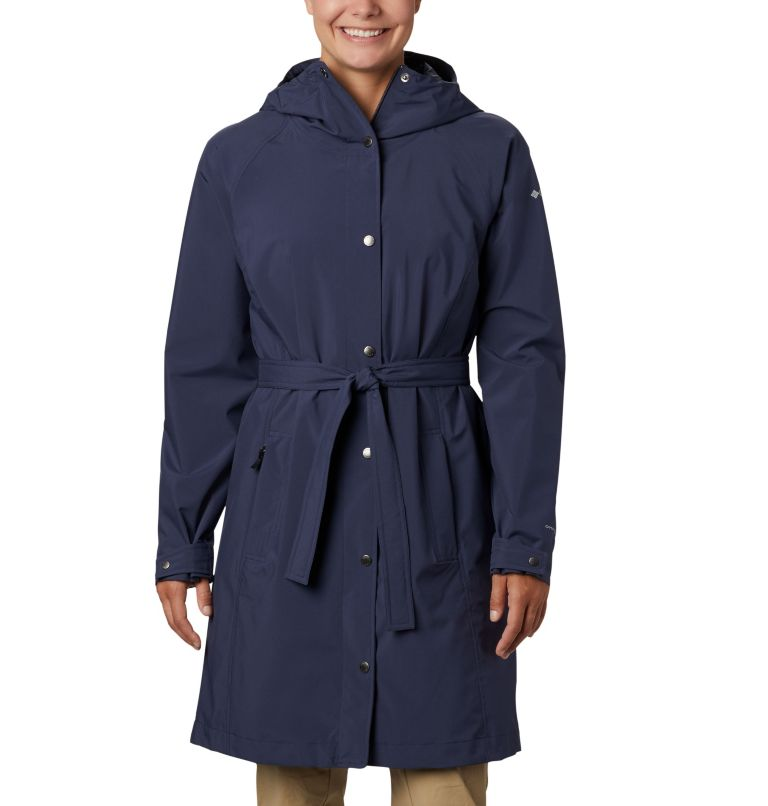 Women's Here And There™ Long Trench Jacket Women's Here And There™ Long Trench Jacket, front