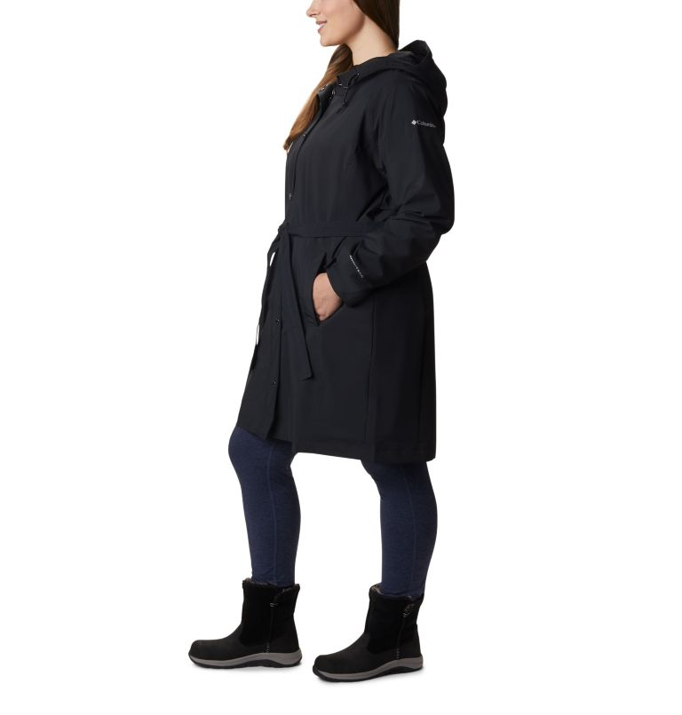 Women's Here And There™ Long Trench Jacket – Plus Size Women's Here And There™ Long Trench Jacket – Plus Size, a1