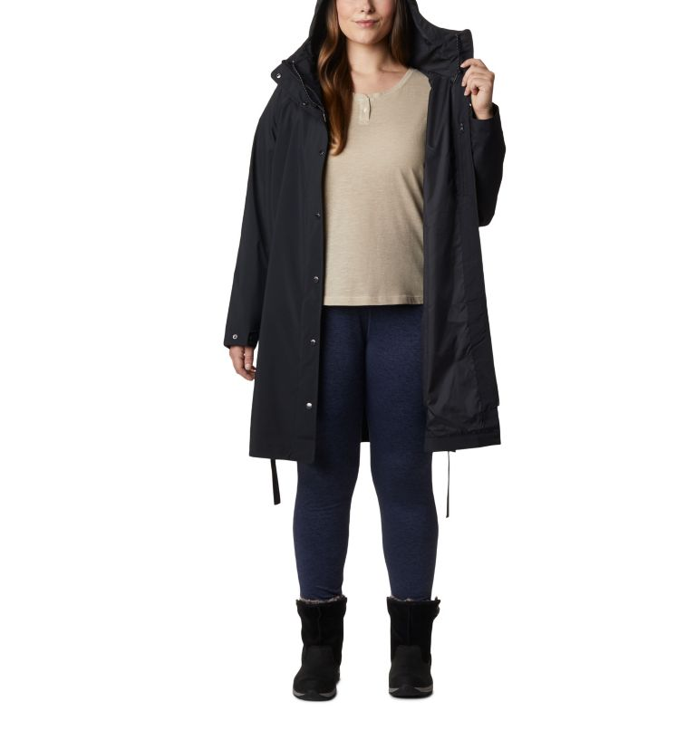 Women's Here And There™ Long Trench Jacket – Plus Size Women's Here And There™ Long Trench Jacket – Plus Size, a3