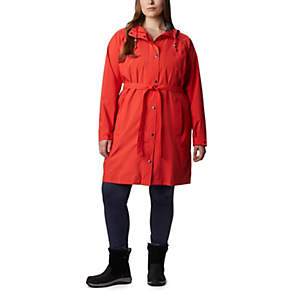 Women's Here And There™ Long Trench Jacket – Plus Size