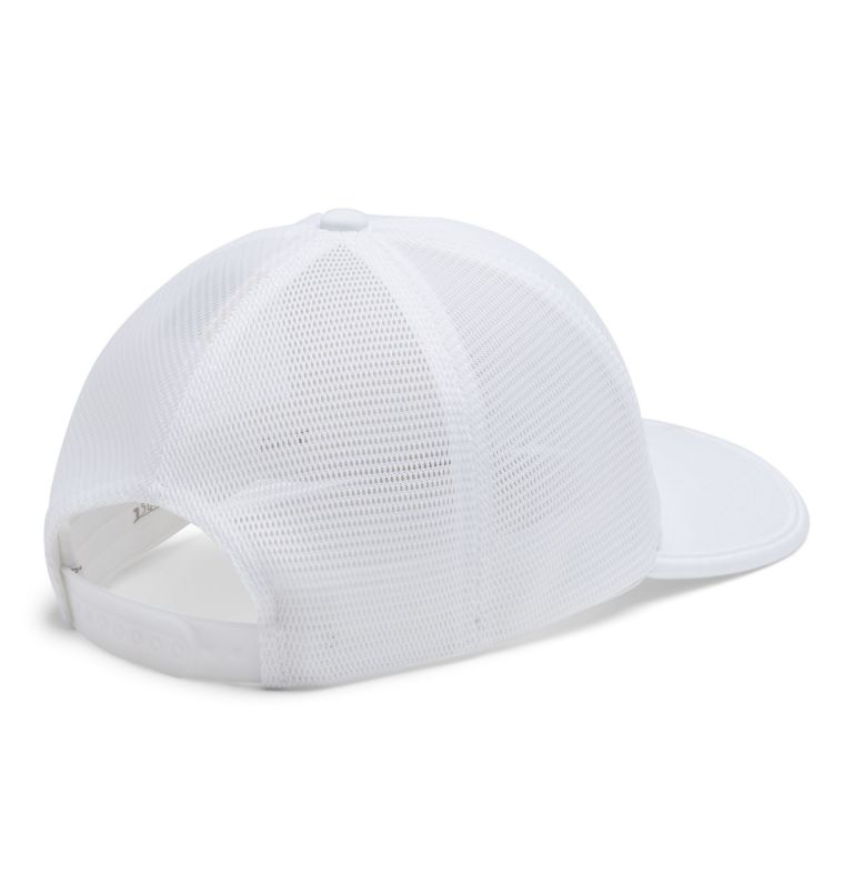 Tech Trail™ 110 Snap Back | 100 | O/S Unisex Tech Trail™ 110 Snap Back, White, Columbia Patch, back