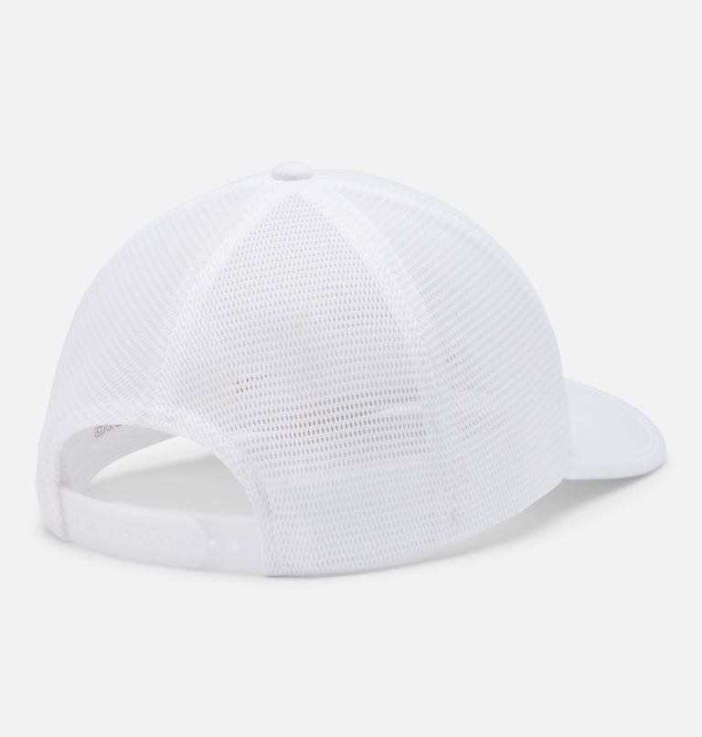 Tech Trail™ 110 Snap Back | 101 | O/S Unisex Tech Trail™ 110 Snap Back, White, Columbia Patch, back