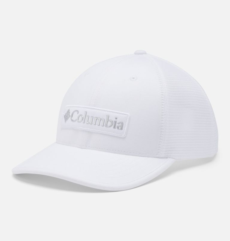 Tech Trail™ 110 Snap Back | 101 | O/S Unisex Tech Trail™ 110 Snap Back, White, Columbia Patch, front