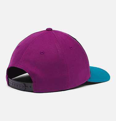 Columbia™ 110 Snap Back Ball Cap Columbia™ 110 Snap Back | 013 | O/S, Black, Plum, Icon Patch, back