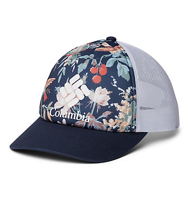Women's Columbia Mesh™ Hat II W Columbia Mesh™ Hat II | 427 | O/S, Nocturnal Floral, Nocturnal, White, Logo, front