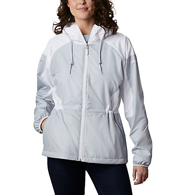 Women's Side Hill™ Lined Windbreaker Side Hill™ Lined Windbreaker | 843 | XL, Cirrus Grey, White, front