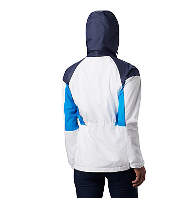 Women's Side Hill™ Lined Windbreaker Side Hill™ Lined Windbreaker | 843 | XL, White, Nocturnal, Static Blue, back