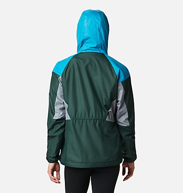 Women's Side Hill™ Lined Windbreaker Side Hill™ Lined Windbreaker | 843 | XL, Spruce, Fjord Blue, Grey Ash, back