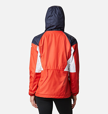 Women's Side Hill™ Lined Windbreaker Side Hill™ Lined Windbreaker | 843 | XL, Bold Orange, Dark Nocturnal, White, back