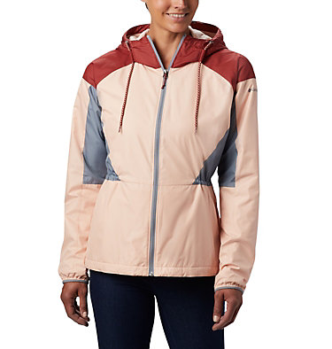 Coupe-vent doublé Side Hill™ pour femme Side Hill™ Lined Windbreaker | 466 | L, Peach Cloud, Dusty Crimson, Trdwnd Grey, front