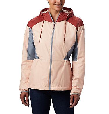 Women's Side Hill™ Lined Windbreaker Side Hill™ Lined Windbreaker | 466 | L, Peach Cloud, Dusty Crimson, Trdwnd Grey, front