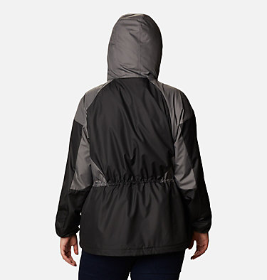 Women's Side Hill™ Lined Windbreaker - Plus Size Side Hill™ Lined Windbreaker | 010 | 1X, Black, City Grey, back