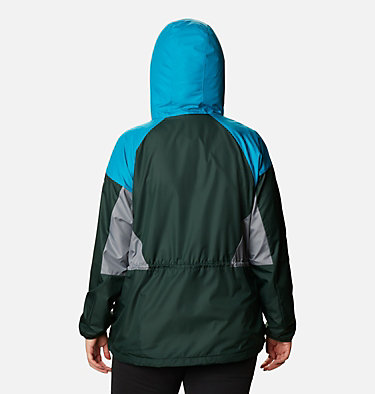 Women's Side Hill™ Lined Windbreaker - Plus Size Side Hill™ Lined Windbreaker | 010 | 1X, Spruce, Fjord Blue, Grey Ash, back