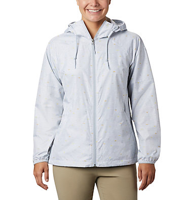 Coupe-vent imprimé Side Hill™ pour femme Side Hill™ Printed Windbreaker | 467 | L, Cirrus Grey Between The Lines Print, front