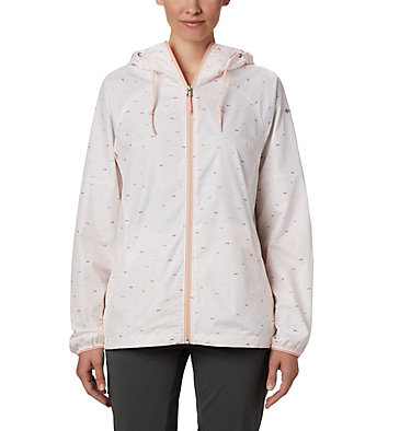 Coupe-vent imprimé Side Hill™ pour femme Side Hill™ Printed Windbreaker | 467 | L, Peach Cloud Between The Lines Print, front
