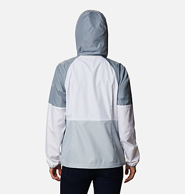 Women's Side Hill™ Windbreaker Side Hill™ Windbreaker | 010 | M, Cirrus Grey, White, Tradewinds Grey, back