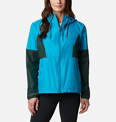 Women's Side Hill™ Windbreaker Side Hill™ Windbreaker | 010 | M, Fjord Blue, Spruce, front