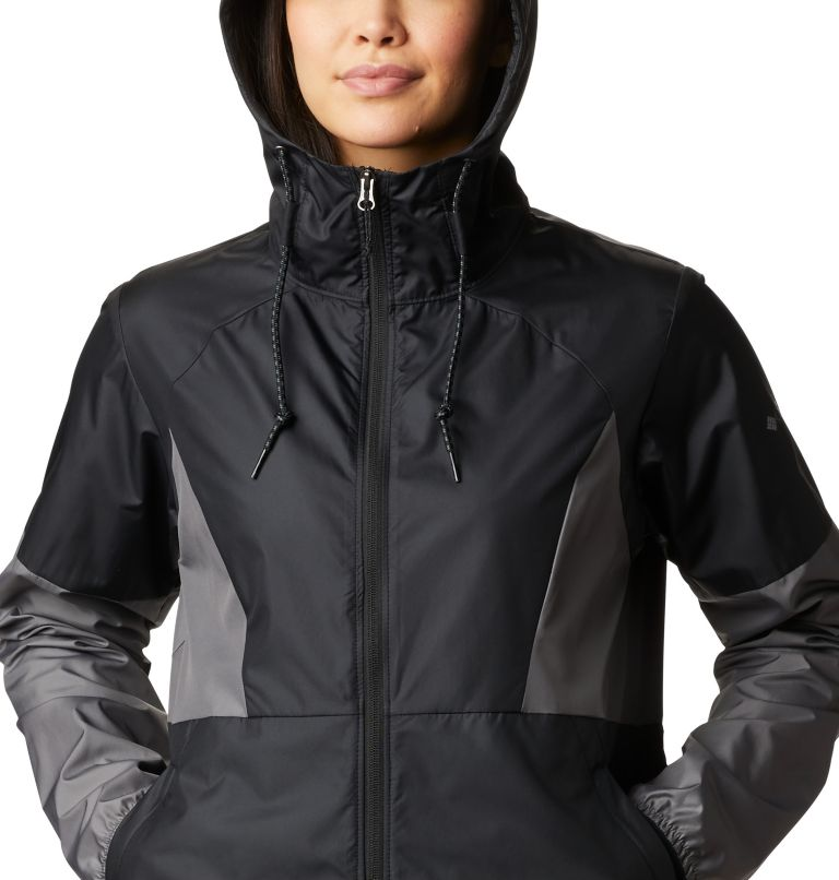 Side Hill™ Windbreaker | 010 | L Women's Side Hill™ Windbreaker, Black, City Grey, a2