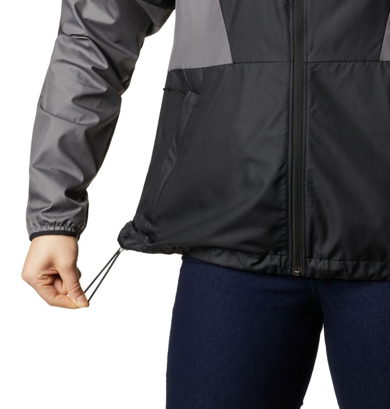 Side Hill™ Windbreaker | 010 | L Women's Side Hill™ Windbreaker, Black, City Grey, a3