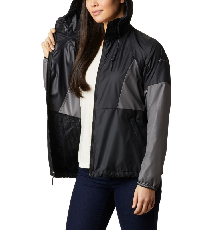 Side Hill™ Windbreaker | 010 | L Women's Side Hill™ Windbreaker, Black, City Grey, a4