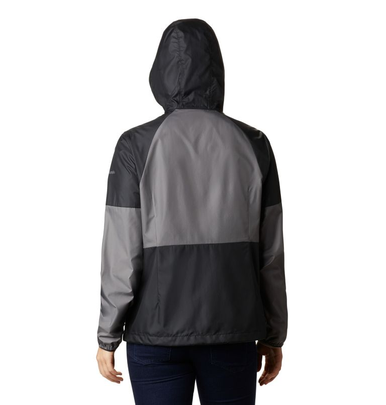 Side Hill™ Windbreaker | 010 | L Women's Side Hill™ Windbreaker, Black, City Grey, back