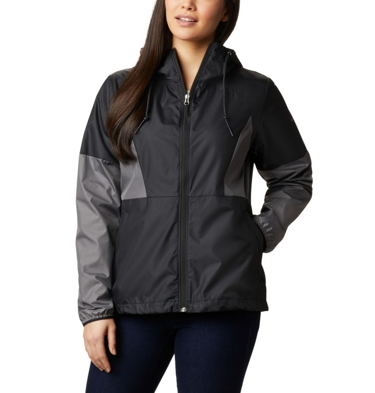 Side Hill™ Windbreaker | 010 | L Women's Side Hill™ Windbreaker, Black, City Grey, front