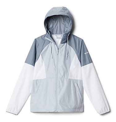 Coupe-vent Side Hill™ pour femme Side Hill™ Windbreaker | 010 | L, Cirrus Grey, White, Tradewinds Grey, front