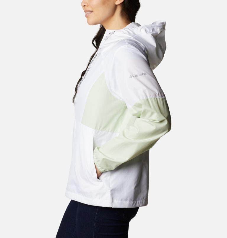 Side Hill™ Windbreaker | 103 | XS Women's Side Hill™ Windbreaker - Plus Size, White, Light Lime, a1