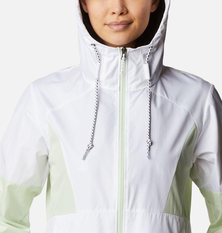 Side Hill™ Windbreaker | 103 | XS Women's Side Hill™ Windbreaker - Plus Size, White, Light Lime, a2