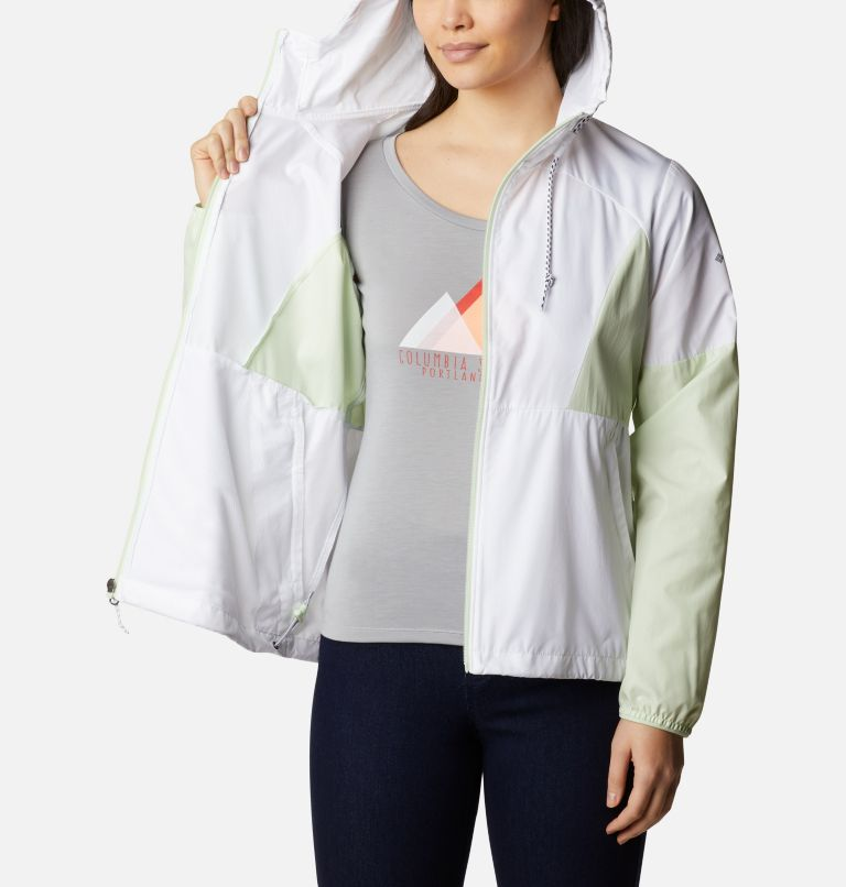 Side Hill™ Windbreaker | 103 | XS Women's Side Hill™ Windbreaker - Plus Size, White, Light Lime, a3
